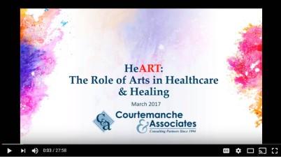 Arts and Healing Webinar